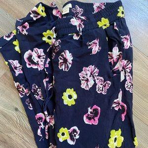 J. Crew floral print pull on pants